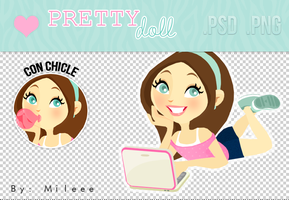 Pretty doll (PNG/PSD) by TutorialesMileee