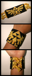 Hylian Crest Bracelet by TheArcticFlame