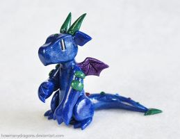 Sapphire Dragon by HowManyDragons