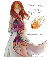 Thank you for 3 years by Poki-art