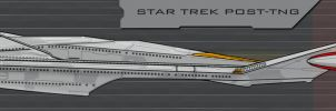 Star Trek post-TNG-era ship side view by AdamKop
