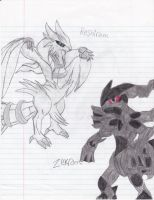 pokemon zekrom reshiram by teamspike3