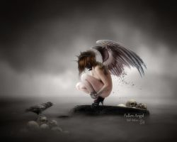 Fallen Angel by MelieMelusine