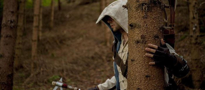 Connor Kenway chasing red coats in the woods by eyes1138