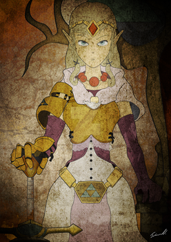 Zelda - New Armor Banner Portrait by artisticbeat