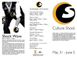 Culture Shock trifold flyer by spen