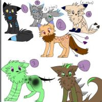 .:FREE:. Cat adopts! by DustyKatt