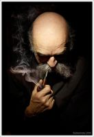 Portrait with a pipe by Jablam