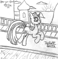 2012-02-23-Twilight in Canterlot by Valorcrow