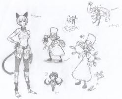 skullgirls doodles by KrystalizedArtist9