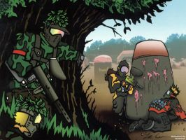 Paintball Scene by FleetCommander