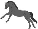 P2U Horse Lineart 1 - 10 Points by ForeignBlackJack