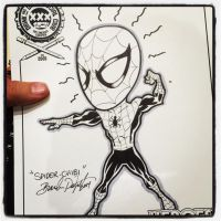 2014 Heroescon Drink and Draw Chibi Spider-Man by BigDogsStudio