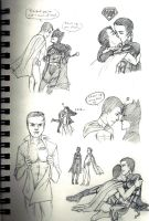Batman x Superman Sketches by Wanderer001