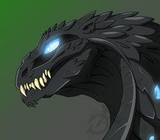 Godzilla Head by aloid19