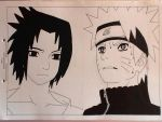 Naruto and Sasuke, the longed reunion~ by LadyEdile