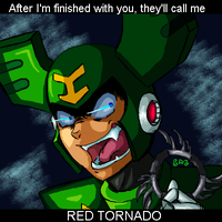 Evil Tornado man by Gingler