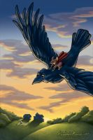 Sunset Flight: Rats of NIMH by KrisCynical