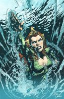 AQUAMAN cover by Ivan Reis - color sample by Dany-Morales