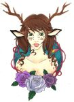 Copic Deer Woman by PICTURES-CRAZY