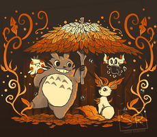 Autumn Forest Friends - shirt design by SarahRichford