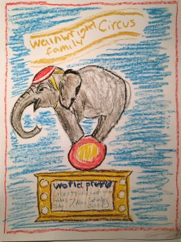 Wainwright circus presents, this elephant!! by OshieK