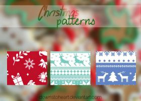 Christmas patterns by Downstoheart