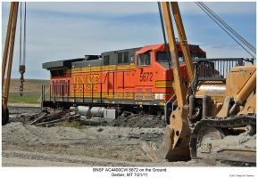 BNSF AC4400CW 5672 on the ground by hunter1828
