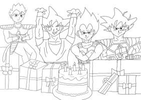 Celebration- Lineart by SailorIronMare