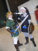 Link and Dark Link by Latripo