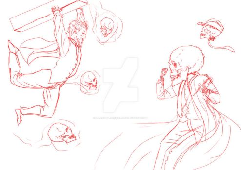 Moarte vs Halloweenie wip by PlastikLoeffel
