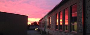 Sunrise at School by colorguardgirl96