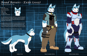 Road Rovers - Exile (2015) Character Sheet by 6spiritking