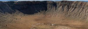 Meteor Crater, Arizona Panorama by kurtjmac