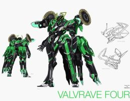 VALRAVE Four from VALVRAVE the liberator by Superheroforever21