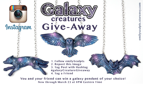 Galaxy Creatures Instagram Giveaway by emilySculpts