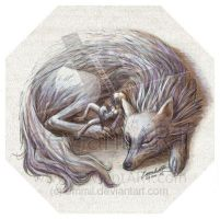 FOR SALE! Mother wolf and her boy by art-adoption