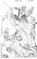 Fantastic Four and Spider-Man by thejeremydale