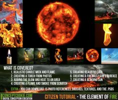 Citizen Tutorial - The Element of Fire by ConceptCookie