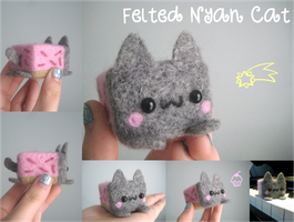 Felted Nyan Cat by xxNostalgic