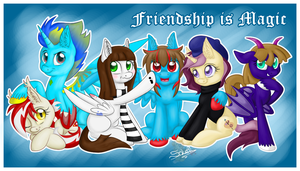 Friendship is Magic. Commission 6 for CrypticGamer by UniSoLeiL
