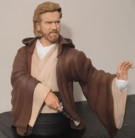 'Attack of the Clones' - Obi Wan Kenobi Bust by tjjwelch