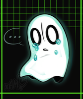 * Here comes Napstablook by AdorkableMarina