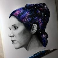Carrie Fisher Drawing - Tribute by LethalChris