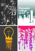 Plymouth Art College Publicity Design Work by MikeCoombsArt