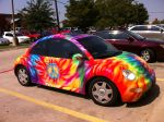 Tie-Dye VW Beetle Stock by cs4artist