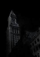 Looming Clock Tower by Fortelegy