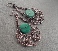 Copper earring 1 by ggagatka