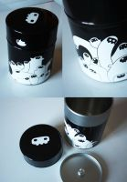DEATH MASK TEA BOX by newbee-work