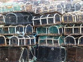 Lobster Crab Pots Whitby Harbour by illusiveexistence